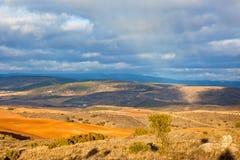 Castilla-La Mancha, Spanien på vintern Arkivbilder