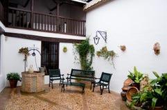 castilla - león la patio typowe fotografia stock