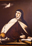 Castille Espagne de St Teresa Painting Convento de Santa Teresa Avila Images libres de droits