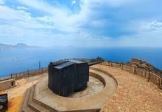 Castillitos Bateria Cartagena, Espanha Imagens de Stock