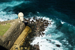 Castillo Сан, бастион в Сан-Хуане Стоковое Изображение