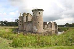 Castillo 2 de Caerlaverock Fotos de archivo libres de regalías