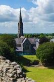 Castillo Abbey Ireland del ajuste fotografía de archivo