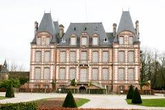 Castillo agradable y hermoso en Francia Imágenes de archivo libres de regalías