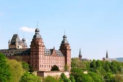 Castillo alemán Aschaffenburg Fotos de archivo libres de regalías