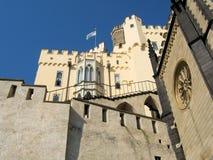 Castillo alemán romántico Stolzenfels, Coblence, el Rin Imagenes de archivo