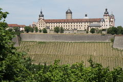 Castillo Alemania de Wurzburg imagenes de archivo
