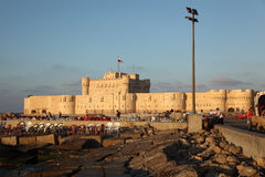 Castillo Alexandría de Qaetbay Fotos de archivo