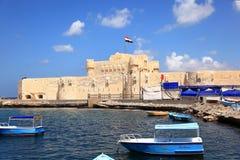 Castillo Alexandría de Qaetbay Imagen de archivo libre de regalías