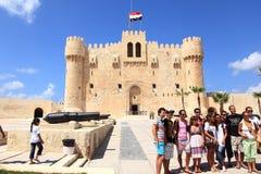 Castillo Alexandría de Qaetbay Foto de archivo libre de regalías
