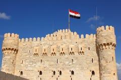 Castillo Alexandría de Qaetbay Fotografía de archivo libre de regalías