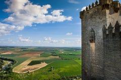 Castillo Almodovar, Cordova, Spagna Fotografie Stock Libere da Diritti