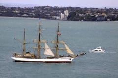 Castillo alto de Picton de la nave en Auckland Fotos de archivo