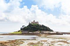 Castillo antiguo del soporte del ` s de San Miguel en Cornualles Inglaterra Reino Unido Fotografía de archivo libre de regalías