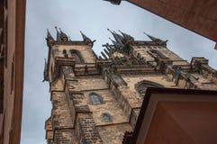 Castillo antiguo en el tiroteo diagonal la República Checa Foto de archivo libre de regalías