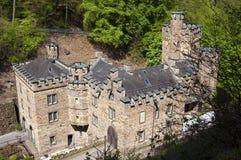 Castillo antiguo Stolzenfels en Coblenza Foto de archivo