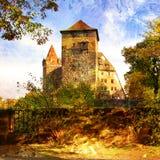 Castillo asoleado imagen de archivo libre de regalías