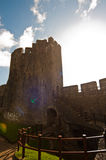 Castillo asoleado Galés imagenes de archivo