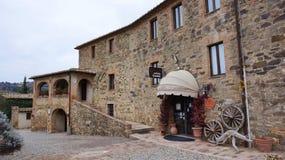 Castillo Banfi, stary kasztel n Montalcino, Włochy Zdjęcia Stock