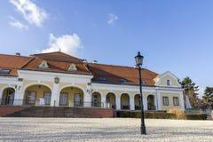 Castillo barroco en Pomaz foto de archivo