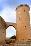 Castillo Bellver en Majorca Imagenes de archivo