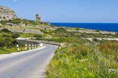 Castillo Bendy del camino Imagen de archivo libre de regalías