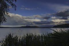 Castillo Bezdez del lago Machac foto de archivo libre de regalías