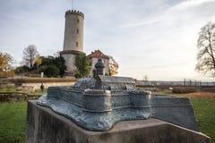 Castillo Bielefeld modelo miniatura Alemania de Sparrenburg foto de archivo