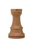 Castillo blanco del ajedrez aislado en Backgroud blanco Fotografía de archivo libre de regalías