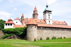 Castillo Bouzov, Moravia, República Checa, Europa Imagenes de archivo