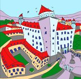 Castillo Bratislava ilustración del vector