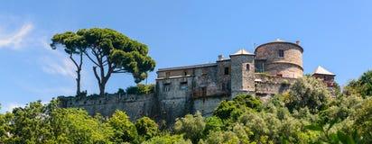 Castillo Brown en Portofino Imágenes de archivo libres de regalías