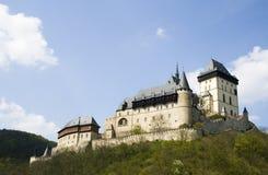 Castillo Carlstein en República Checa foto de archivo