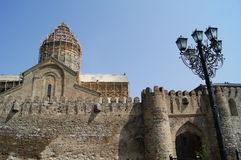 Castillo-catedral de Svetitskhoveli Fotos de archivo
