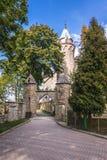 Castillo cerca de Szczytna Imagenes de archivo
