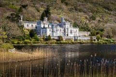 Castillo cerca de un lago Imagen de archivo