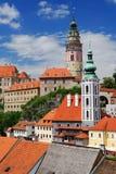 Castillo Cesky Krumlov Foto de archivo libre de regalías