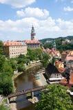 Castillo Cesky Krumlov, República Checa Fotografía de archivo libre de regalías