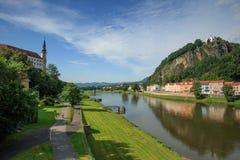 Castillo checo de Decin Fotografía de archivo