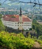 Castillo checo de Decin Foto de archivo