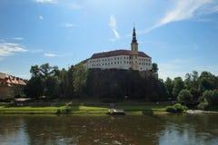 Castillo checo de Decin Imágenes de archivo libres de regalías