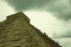 castillo chichen el itza 图库摄影