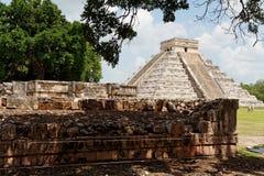 castillo chichen itza Мексика el Стоковые Фотографии RF