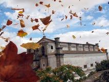 Castillo con las hojas Imagen de archivo libre de regalías