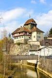 Castillo construido en siglo XIII en Frauenfeld, Suiza imágenes de archivo libres de regalías