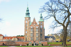 Castillo Copenhague de Rosenborg imagen de archivo libre de regalías