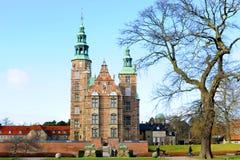 Castillo Copenhague de Rosenborg imagen de archivo