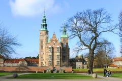 Castillo Copenhague de Rosenborg imágenes de archivo libres de regalías