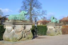 Castillo Copenhague de Rosenborg fotografía de archivo