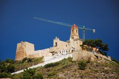 Castillo Cullera Foto de archivo libre de regalías